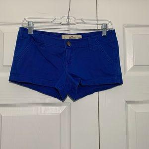 Hollister deep blue shorts size 1